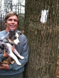 Ivy's first time on the Appalachian Trail, at about 18 weeks old.